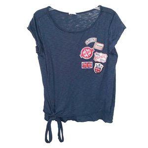 Emory Park Navy Patch Tunic T Shirt London England